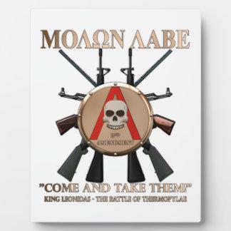 Molon Labe - Spartan Shield Display Plaques