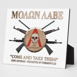 Molon Labe - Spartan Shield Plaque