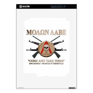 Molon Labe - Spartan Shield Skin For The iPad 2