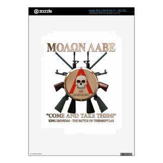Molon Labe - Spartan Shield Skins For iPad 3