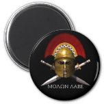 Molon Labe Spartan Skull 2 Inch Round Magnet