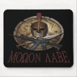 "Molon Labe Spartan Skull w/ M-4 Mousepad<br><div class=""desc"">In regard to 2nd Amendment Rights, the phrase molon labe means &quot;Come and take them&quot;. It is a classical expression of defiance reportedly spoken by King Leonidas I in response to the Persian army&#39;s demand that the Spartans surrender their weapons at the Battle of Thermopylae. It is a rallying cry...</div>"
