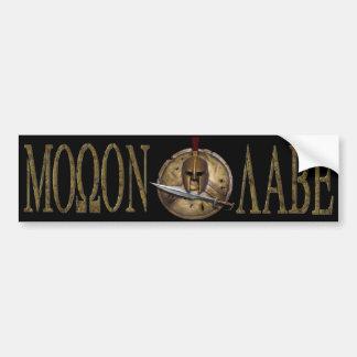 Molon Labe Spartan Sword Bmpr Sticker