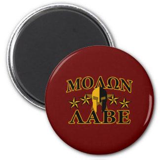 Molon Labe Spartan Warrior 5 stars Burgundy Magnet