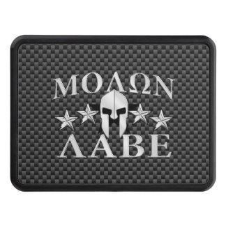 Molon Labe Spartan Warrior 5 stars Carbon Trailer Hitch Cover