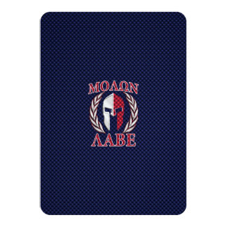 Molon Labe Spartan Warrior Carbon Fiber Print Card