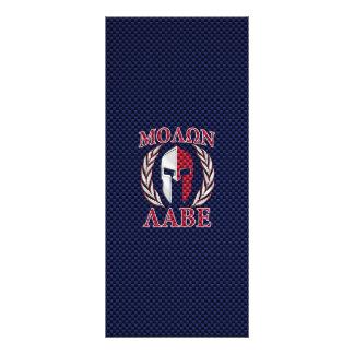 Molon Labe Spartan Warrior Carbon Fiber Print Rack Card