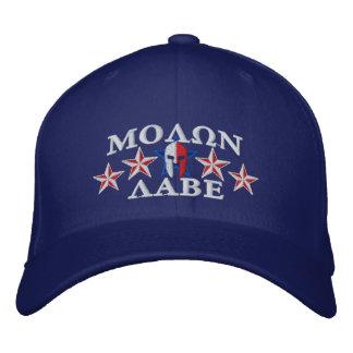Molon Labe Spartan Warrior Five Stars Embroidered Baseball Hat