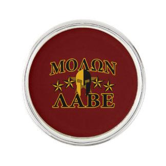 Molon Labe Spartan Warrior Golden Burgundy Lapel Pin