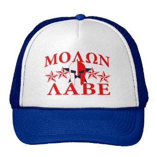 Molon Labe Spartan Warrior Helmet 5 stars Patriot Trucker Hat