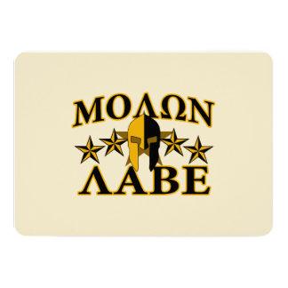 Molon Labe Spartan Warrior Helmet Golden Decor Card