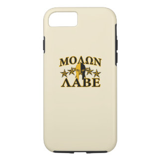Molon Labe Spartan Warrior Helmet Golden Decor iPhone 8/7 Case