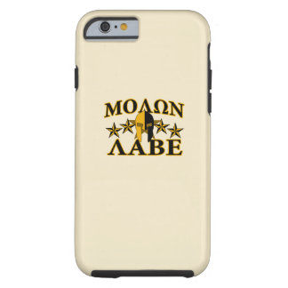 Molon Labe Spartan Warrior Helmet Golden Decor Tough iPhone 6 Case