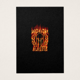 Molon Labe Spartan Warrior in Flames Business Card