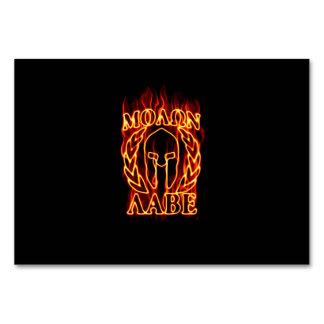 Molon Labe Spartan Warrior in Flames Card
