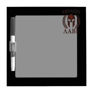 Molon Labe Spartan Warrior Iron Laurels Mask Dry Erase Board