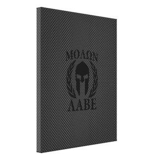 Molon Labe Spartan Warrior Laurels Carbon Decor Canvas Print