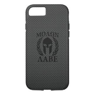 Molon Labe Spartan Warrior Laurels Carbon Decor iPhone 7 Case