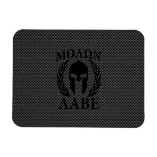 Molon Labe Spartan Warrior Laurels Carbon Decor Magnet