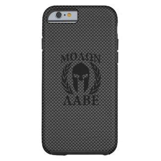 Molon Labe Spartan Warrior Laurels Carbon Decor Tough iPhone 6 Case