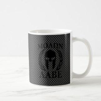 Molon Labe Spartan Warrior Laurels Carbon Style Coffee Mug