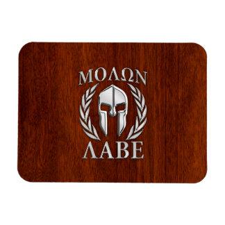 Molon Labe Spartan Warrior Laurels Chro Wood Print Magnet