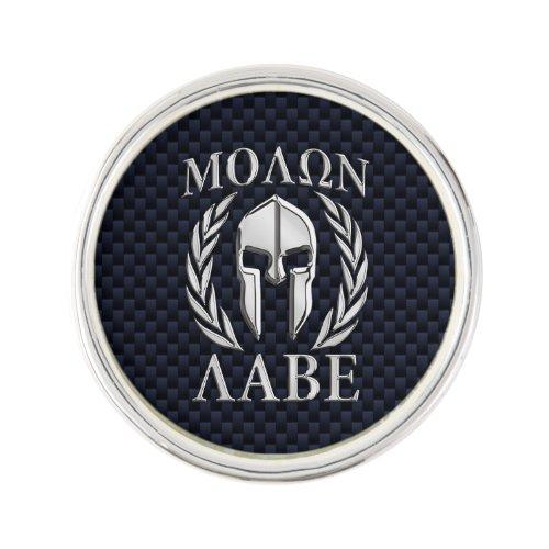 Molon Labe Spartan Warrior Laurels Chrome Print Pin
