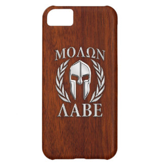 Molon Labe Spartan Warrior Laurels Chrome Style Cover For iPhone 5C