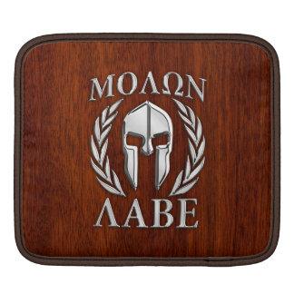Molon Labe Spartan Warrior Laurels Chrome Style iPad Sleeves