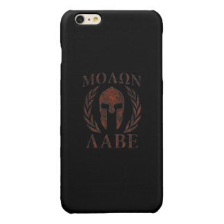 Molon Labe Spartan Warrior Laurels Glossy iPhone 6 Plus Case