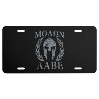 Molon Labe Spartan Warrior Laurels License Plate