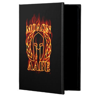 Molon Labe Spartan Warrior Laurels on Fire Case For iPad Air