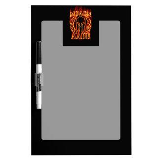 Molon Labe Spartan Warrior Laurels on Fire Dry-Erase Board