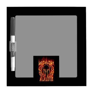 Molon Labe Spartan Warrior Laurels on Fire Dry Erase Board