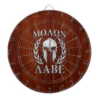 Molon Labe Spartan Warrior Laurels Wood Decor Dartboards