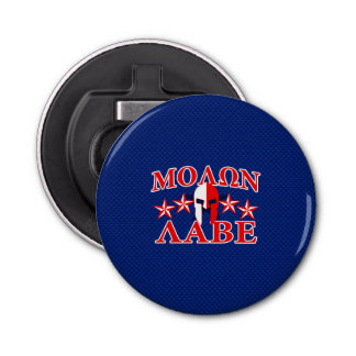 Molon Labe Spartan Warrior Mask 5 stars Patriot Bottle Opener
