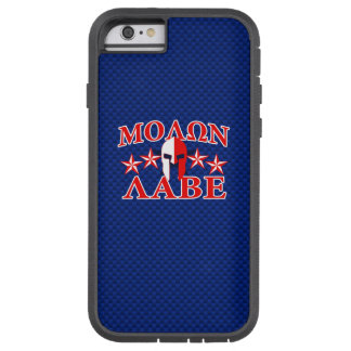 Molon Labe Spartan Warrior Mask 5 stars Patriot Tough Xtreme iPhone 6 Case