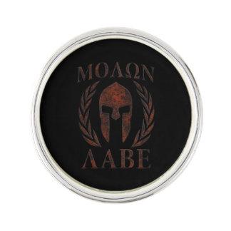 Molon Labe Spartan Warrior Mask Laurels Iron Pin