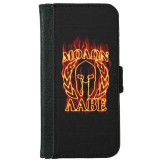 Molon Labe Spartan Warrior on Fire iPhone 6/6s Wallet Case