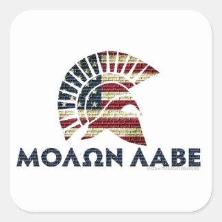 Molon Labe! Square Sticker