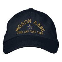Molon Labe Star Embroidery Baseball Cap