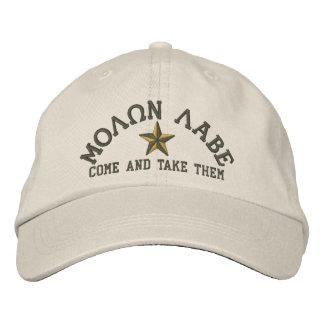 Molon Labe Star Embroidery Cap