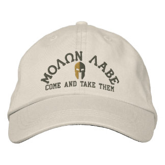 Molon Labe Star Embroidery Embroidered Hat
