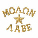 Molon Labe Star Embroidery Jackets