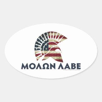 Molon Labe! Oval Sticker