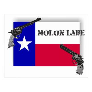 Molon Labe Texas Flag and Guns Postcard