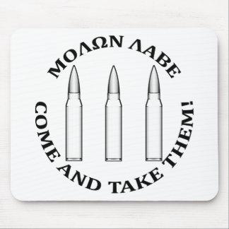 Molon Labe Three Percent Mouse Pad