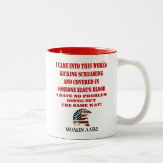 MOLON LABE Two-Tone COFFEE MUG