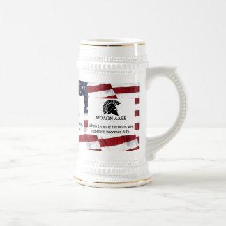 MOLON LABE USA FLAG BEER STEIN