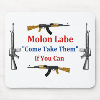 Molon Labe: Venido tómelos: Si usted puede Alfombrillas De Ratones